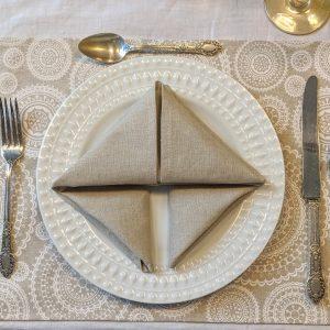 SERVIETTES DE TABLE POUR LA CUISINE « SIGNATURE »
